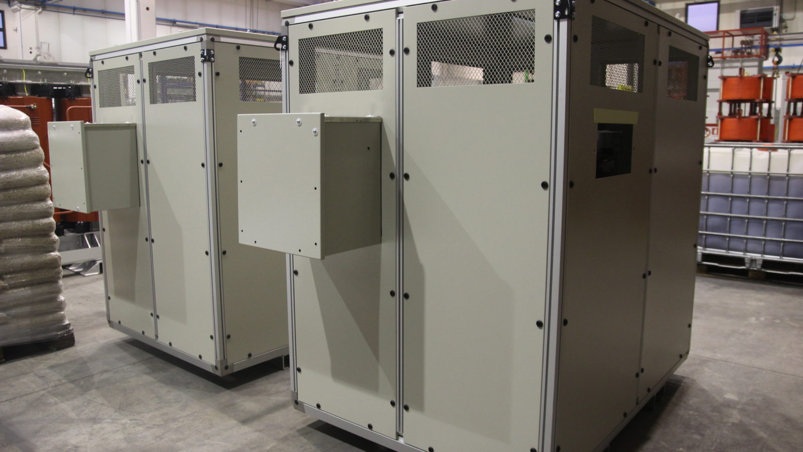 Enclosure with LV and MV cable boxes